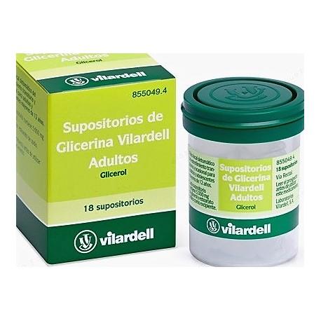 SUPOSITORIOS GLICERINA VILARDELL ADULTOS 18 SUPOSITORIOS