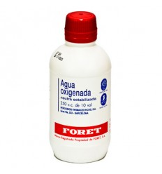 AGUA OXIGENADA FORET 30 mg/ml SOLUCION CUTANEA Y CONCENTRADO PARA SOLUCION BUCAL 1 FRASCO 250 ml