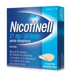 NICOTINELL 21 MG/24 H 14 PARCHES TRANSDERMICOS 52.5 MG