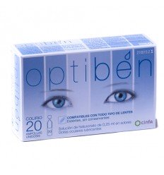 OPTIBEN OJOS SECOS GOTAS UNIDOSIS SEQUEDAD OCULA 0.25 ML 20 AMP