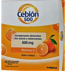 CEBION 500 GRANULADO SOLUCION ORAL 12 SOBRES