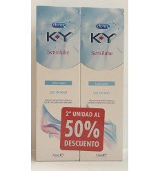 K-Y PACK 50 GEL LUBRICANTE HIDROSOLUBLE INTIMO 75 ML 2 UNIDADES