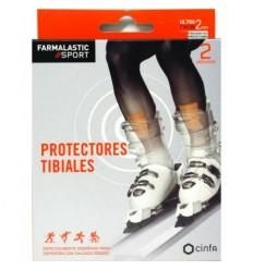 APOSITO PROTECTORES TIBIALES FARMALASTIC SPORT 2 U 7 CM X 9.5 CM