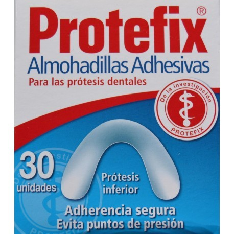 PROTEFIX ALMOHADILLAS ADHESIVAS PROTESIS 30 U INFERIOR